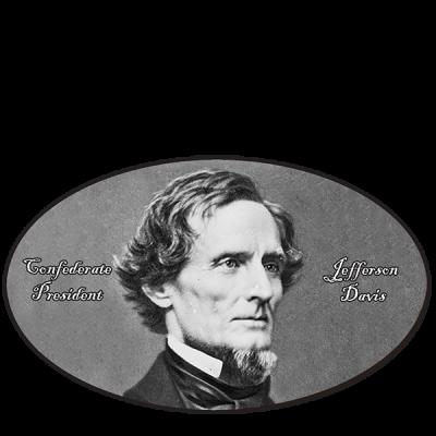 President Jefferson Davis - Oval Sticker