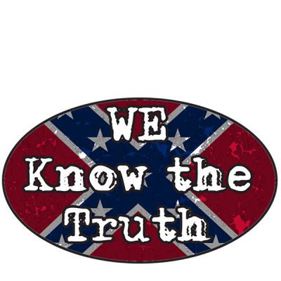 We Know The Truth - Oval Sticker by Dixie Outfitters®