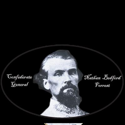 General Nathan B. Forrest - Oval Sticker