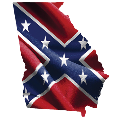 Georgia Confederate Sticker by Dixie Outfitters®​