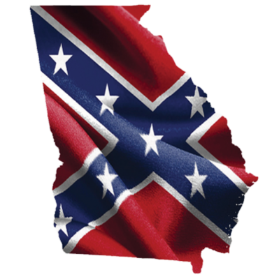 Georgia Confederate Sticker by Dixie Outfitters®