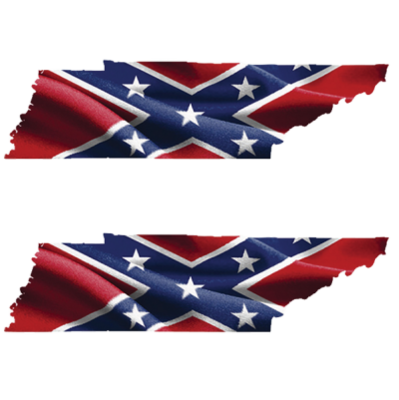 Confederate Tennessee - Square Sticker by Dixie Outfitters®