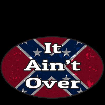 It Ain't Over - Oval Sticker