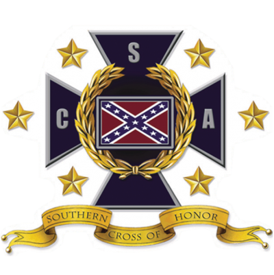 Southern Cross of Honor - Square Sticker by Dixie Outfitters®​