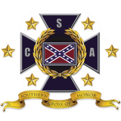 Southern Cross of Honor - Square Sticker by Dixie Outfitters®