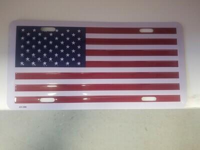 US Flag License Plate