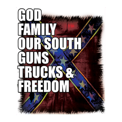 God, Family, Our South Sticker