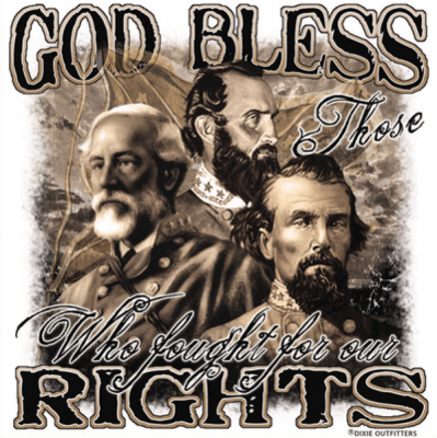 God Bless Those Who Fought For Our Rights Sticker by Dixie Outfitters®