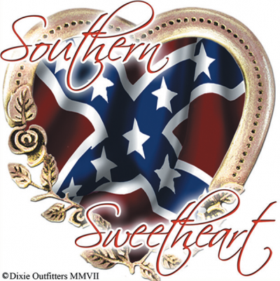 Southern Sweetheart - Square Sticker by Dixie Outfitters®​
