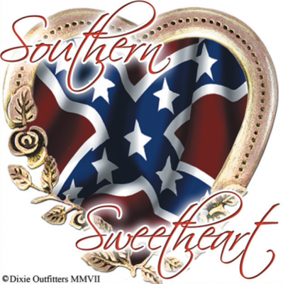 Southern Sweetheart - Square Sticker