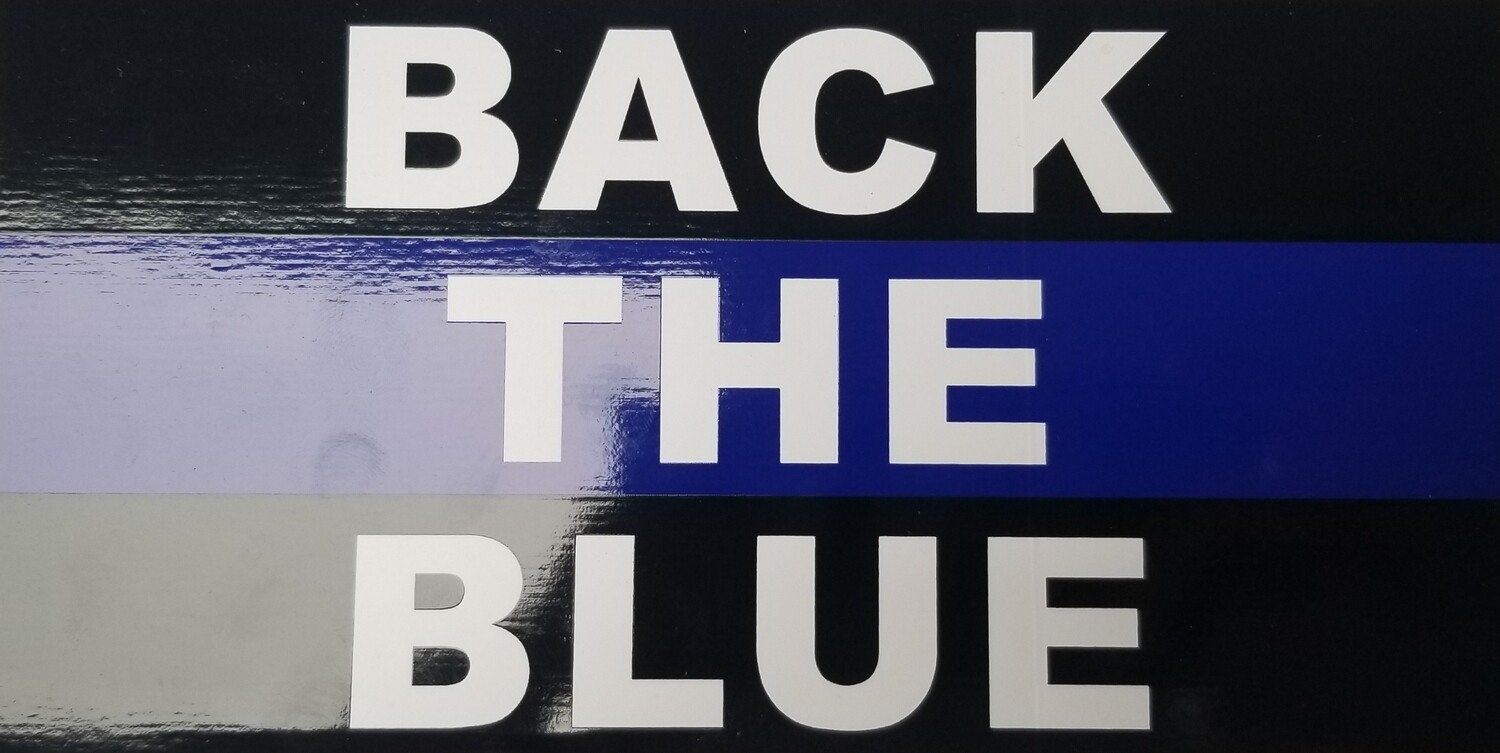 Back The Blue - Rectangular Sticker