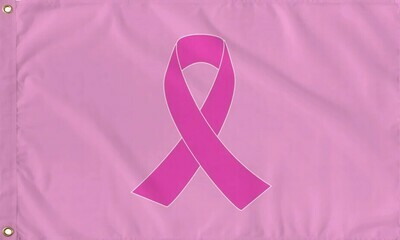 Pink Ribbon (Breast Cancer) Flag