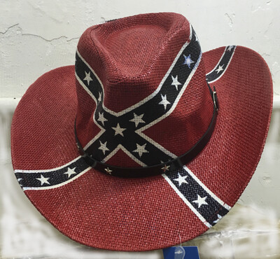 Battle Flag Straw Hat
