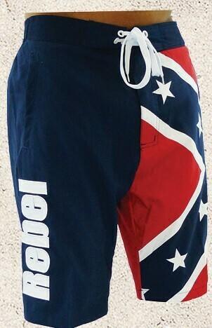 Confederate Rebel Flag Board Shorts