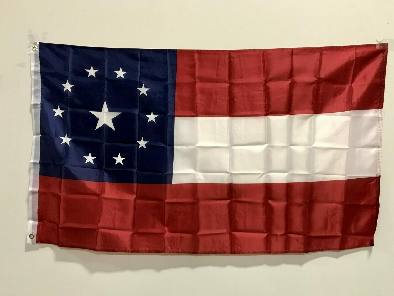 1st National w/ 11 stars Flag