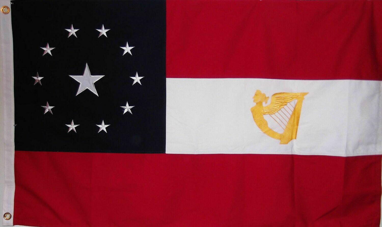 Irish Brigade Stars and Bars w / Harp