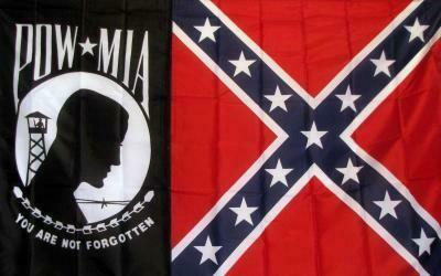 POW MIA / Battle Flag Combo