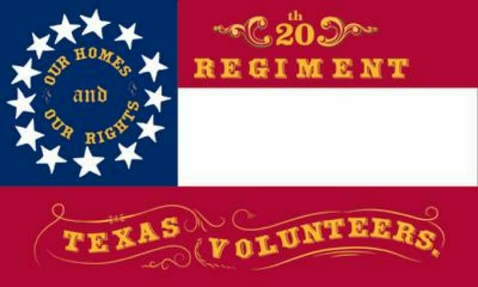 The 20th Regiment - Texas Volunteers Flag