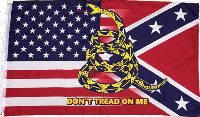 US / REBEL Bleed with Don't Tread On Me Snake