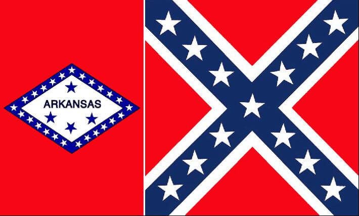 Arkansas Battle Flag Combo