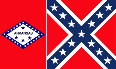 Arkansas Battle Flag Combo