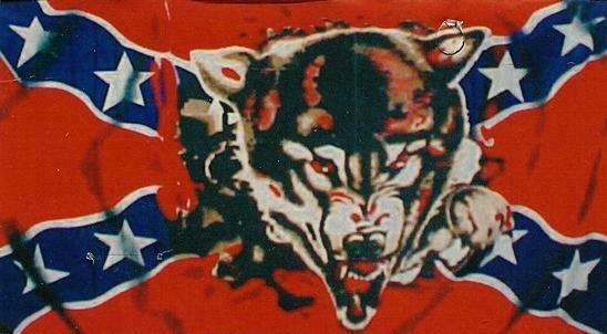 Battle Flag w/ Wolf
