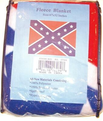 """Confederate Polar Fleece Blanket 67"""" x 52"""""""