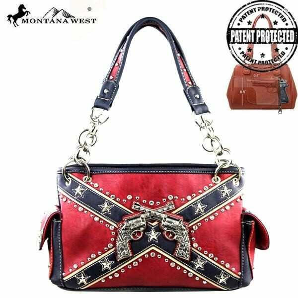 Montana West Battle Flag Concealed Carry Purse v1