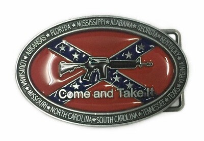 Come and Take It Confederate Belt Buckle