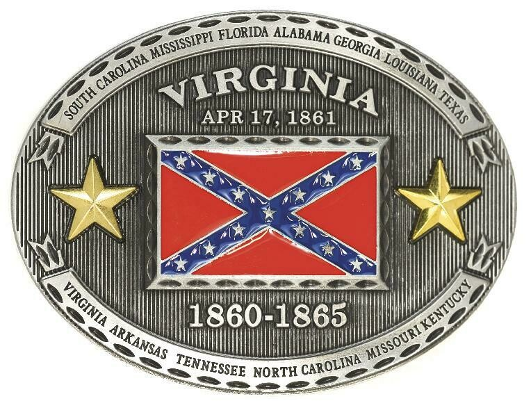 Virginia Confederate Belt Buckle