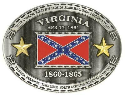 Virginia Confederate Belt Buckle