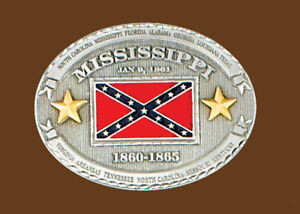 Mississippi Confederate Belt Buckle