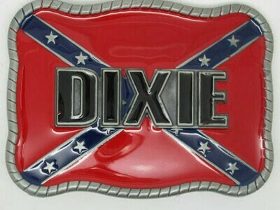 Dixie Square Confederate Belt Buckle