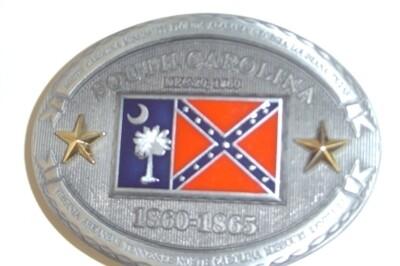 South Carolina Confederate Belt Buckle