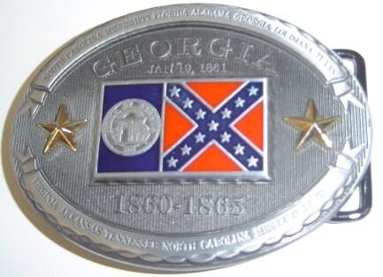 Georgia Confederate Belt Buckle
