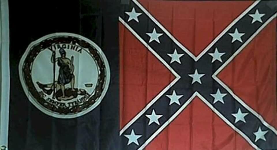 VA Battle Flag Combo Flag
