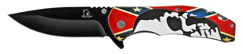 Confederate Flag Skull Pocket Knife