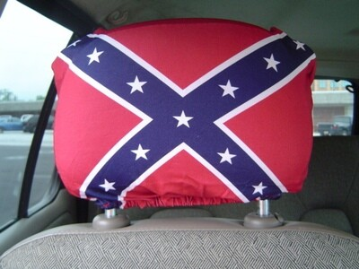 Spandex Battle Flag Headrest Covers