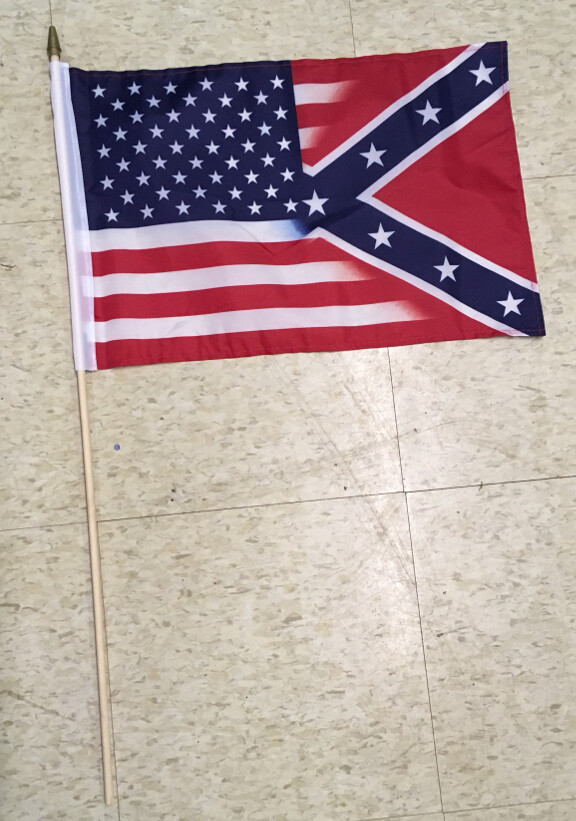 Confederate / American Stick Flag (50/50 Flag)
