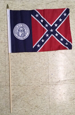 Old Georgia Gravesite Stick Flag (True GA Flag)