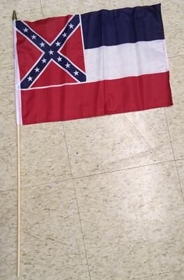 Mississippi State Gravesite Stick Flag
