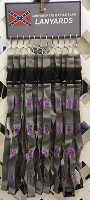 Beautiful Confederate Grey Lanyards - One Piece