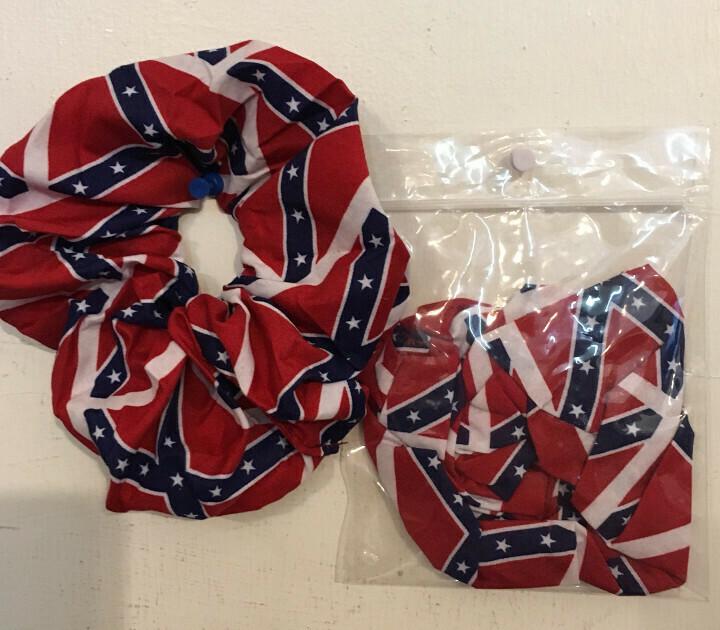 Confederate Flag Scrungies