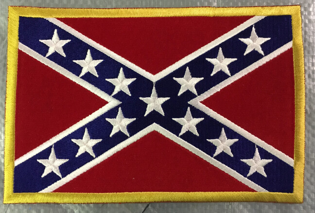 Confederate Flag Patches - Sew On