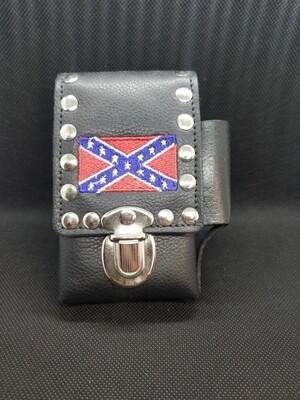 Confederate Leather Studded Cigarette Case