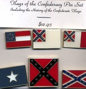 Flag's of the Confederacy Pin Set