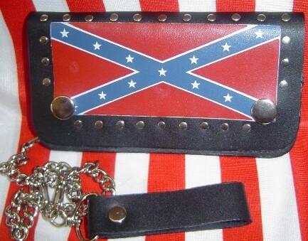 Rebel Leather Billfold Wallet w/ Chain - Long