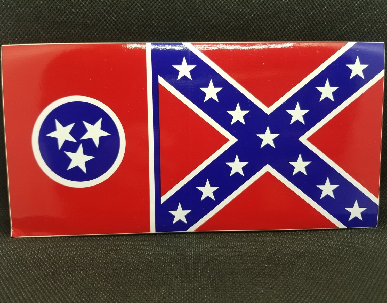 Tennessee Battle Flag Sticker