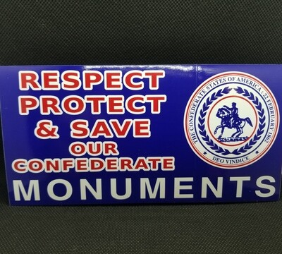 Respect, Protect, And Save Our Monuments Sticker