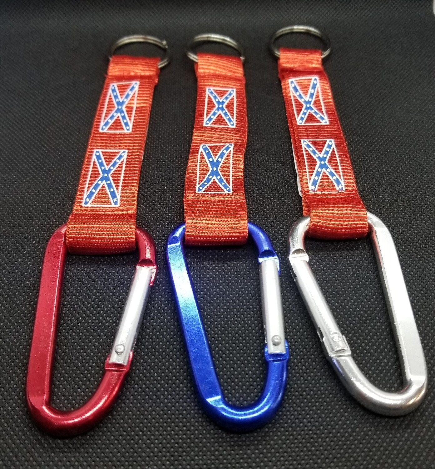 Confederate Carabiner Key Chain - 3 Colors